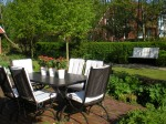 Outdoor seating in the garden