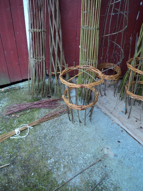 plant stand from dried willow
