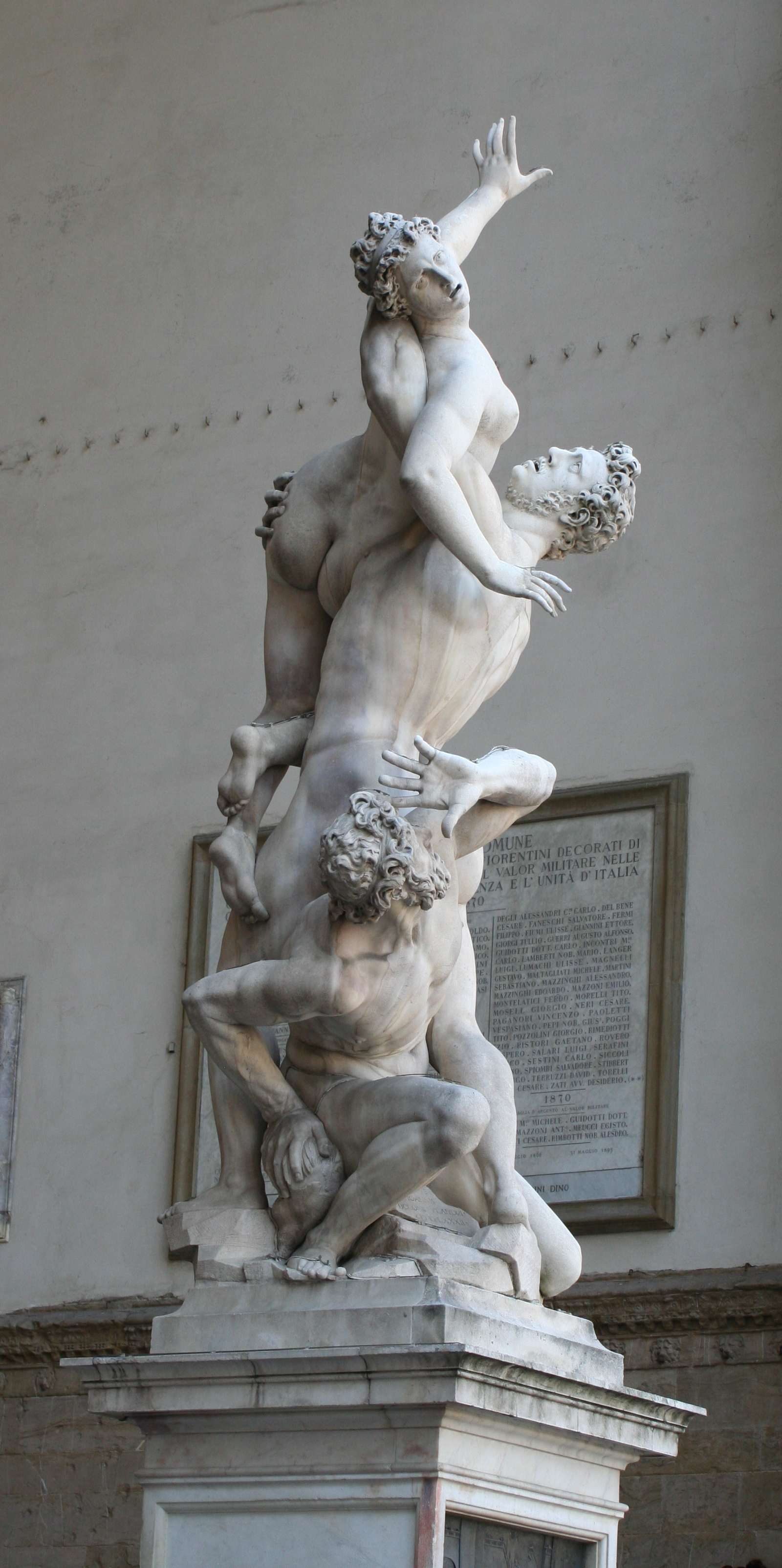 Abduction of the sabine women giambologna